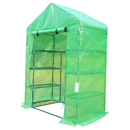 Outsunny 6.5′ x 4.67′ x 2.5′ Outdoor Compact Walk-in Greenhouse