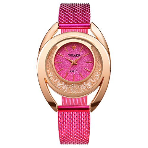 SFE Women's Casual Quartz Plastic Leather Band Strap Watch Analog Wrist Watch