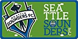 Seattle Sounders Printed MEGA Style Deluxe Laser Acrylic License Plate Tag FC Football Club MLS Soccer