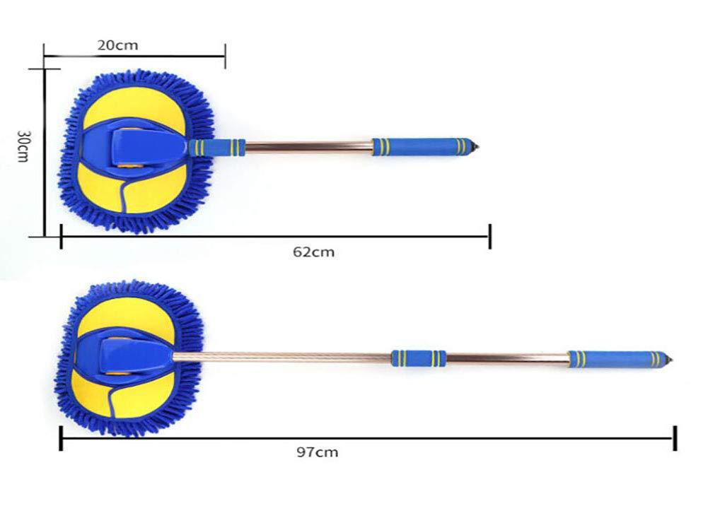 JINER Microfiber Wash Mop Long Retractable/Soft/Non-Slip/Exterior Interior Wash Cleaner Brush for Car Bike Boats or Home by JINER (Image #3)
