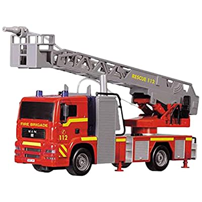 "Dickie Toys 12"" Light and Sound SOS Fire Engine Vehicle (With Working Pump): Toys & Games"