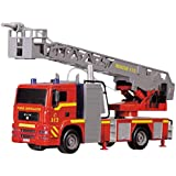 """Dickie Toys 12"""" Light and Sound SOS Fire Engine Vehicle (With Working Pump)"""