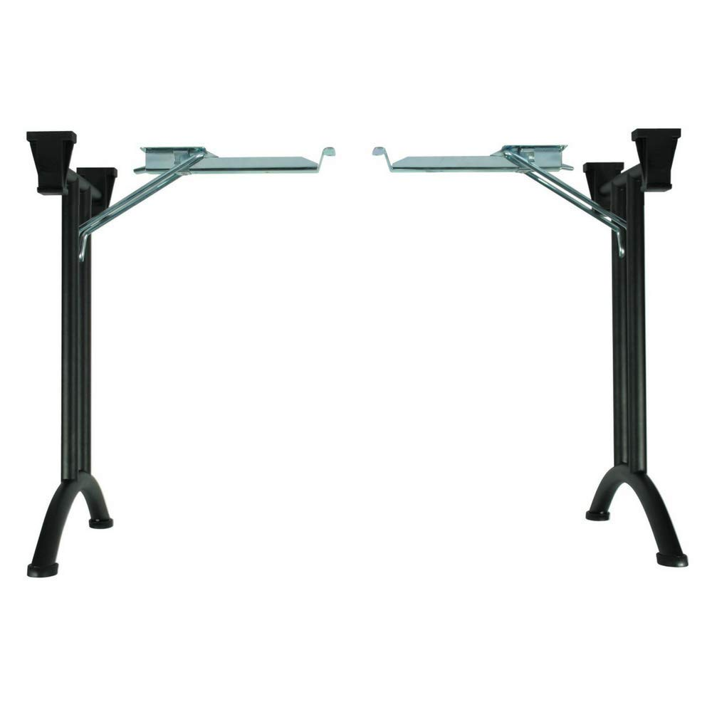 Folding Table Legs, with Curved Foot by Hafele, Steel, W 23 1/4 x H 27 1/8'' (Black)