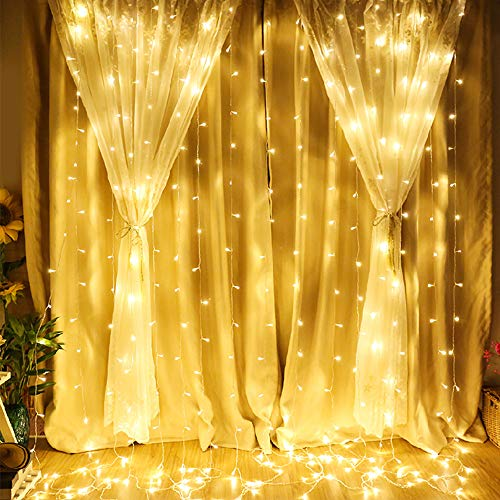 Zanflare 300 LED Window Curtain String Light, 9.8ft