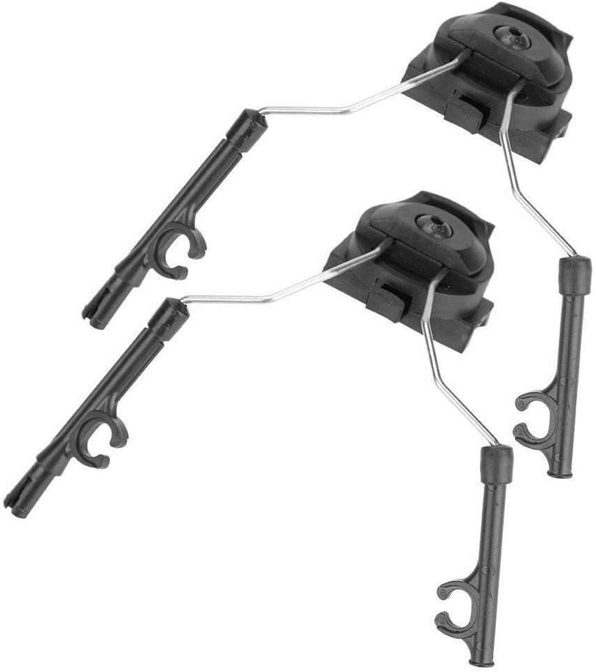 nobrand Tactics Helm Schienenadapter Headset-Halter kompatible Set mit ACH-ARC Fast OPS-Core-Helm Rails Schwarz