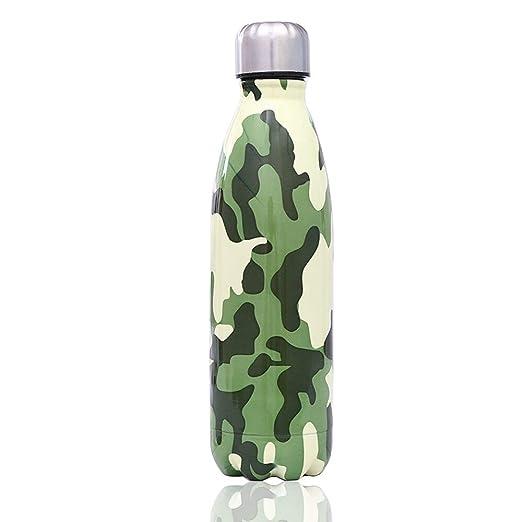 BEDLBX Botella De Agua De Acero Inoxidable Termos, Camuflaje ...