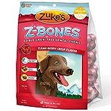 Zuke'S Z-Bones Clean Berry Crisp Regular Dental Chew Dog Treats - 8...