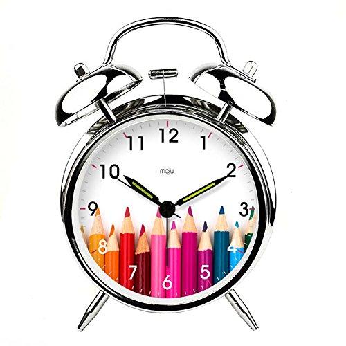PANDA SUPERSTORE Alarm Clock Practical Mute Alarm Clock Luminous Light Utility Super Loud