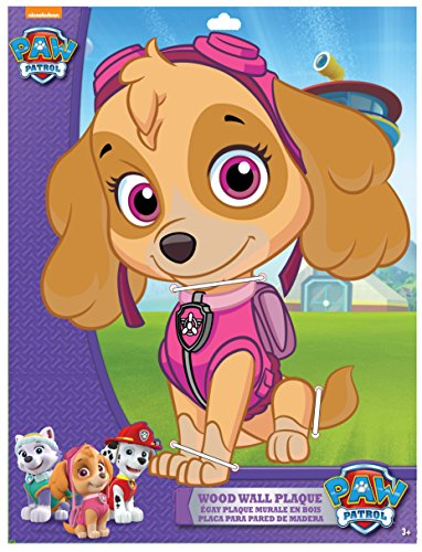 (Edge home Products Skye Paw Patrol 13 Inch 2-Layer MDF Diecut Plaque,)