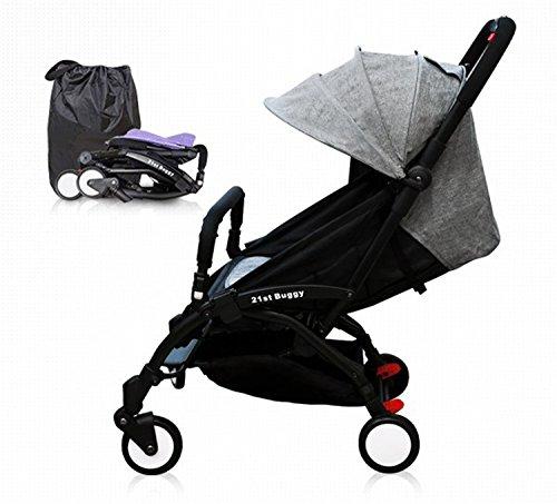 21st Buggy Pocket – Lightweight, easy handling, easy folding, portable stroller (Grey)