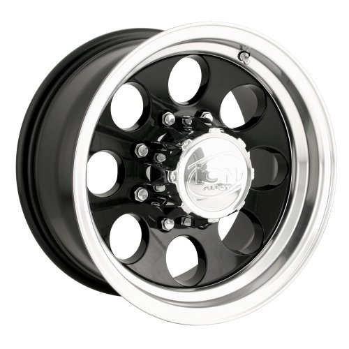 Ion Alloy 171 Black Wheel with Machined Lip (16×8″/5x135mm)