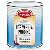 Real Fresh Cafe Classic Vanilla with Splenda Pudding, 7 Pound - 6 per case.