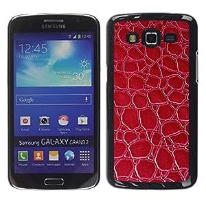 Smartphone Rígido Protección única Imagen Carcasa Funda Tapa Skin Case Para Samsung Galaxy Grand 2 SM-G7102 SM-G7105 Material Red Texture Pattern Wallpaper / STRONG
