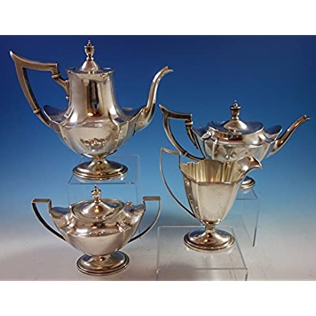 Plymouth By Gorham Sterling Silver Tea Set 4pc 1897