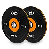 Valor Fitness BPP-15, 10lb Bumper Plate Pro, Set of 2