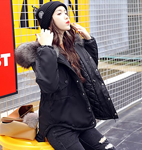 Down Black Womens Coats Bigood Hooded Coat Jacket Irregular Sleeve Winter Long Warm znPdq