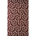 Home Sizzler 2 Piece Eyelet Polyester Door Curtain – 7ft, Maroon
