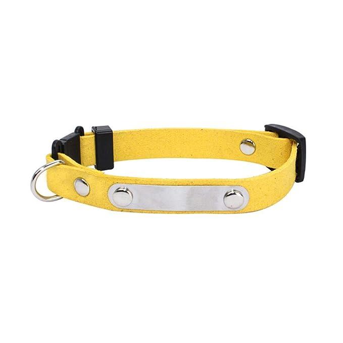 Accesorios para Perro Collares, ♥ ♥ Zolimx Cuello de Perro Personalizado de PU Etiqueta Collar