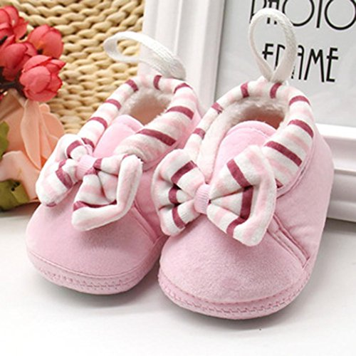 ec6fa4fc1087 Connia Newborn Warm Shoes Cute Girls Boys Toddler Winter Thick Snow Bowknot  Soft Sole Boots Baby