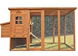 Pets Imperial Arlington Chicken Coop with Extra Long Run 8ft 2' & Asphalt Roof Suitable for 4/6 Birds Depending On Size