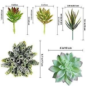 Supla Pack of 14 Assorted Artificial Succulents Picks Textured Aloe Faux Succulent Pick Succulent Stems Fake Succulent Bouquet String of Pearls Succulent Faux Succulent Floral Arrangement Accent 3