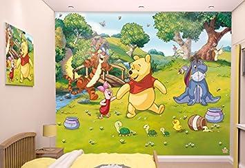 Walltastic 42100 Disney, Winnie Pooh, Tapete, Wandbild, bunt, 52.5 x ...