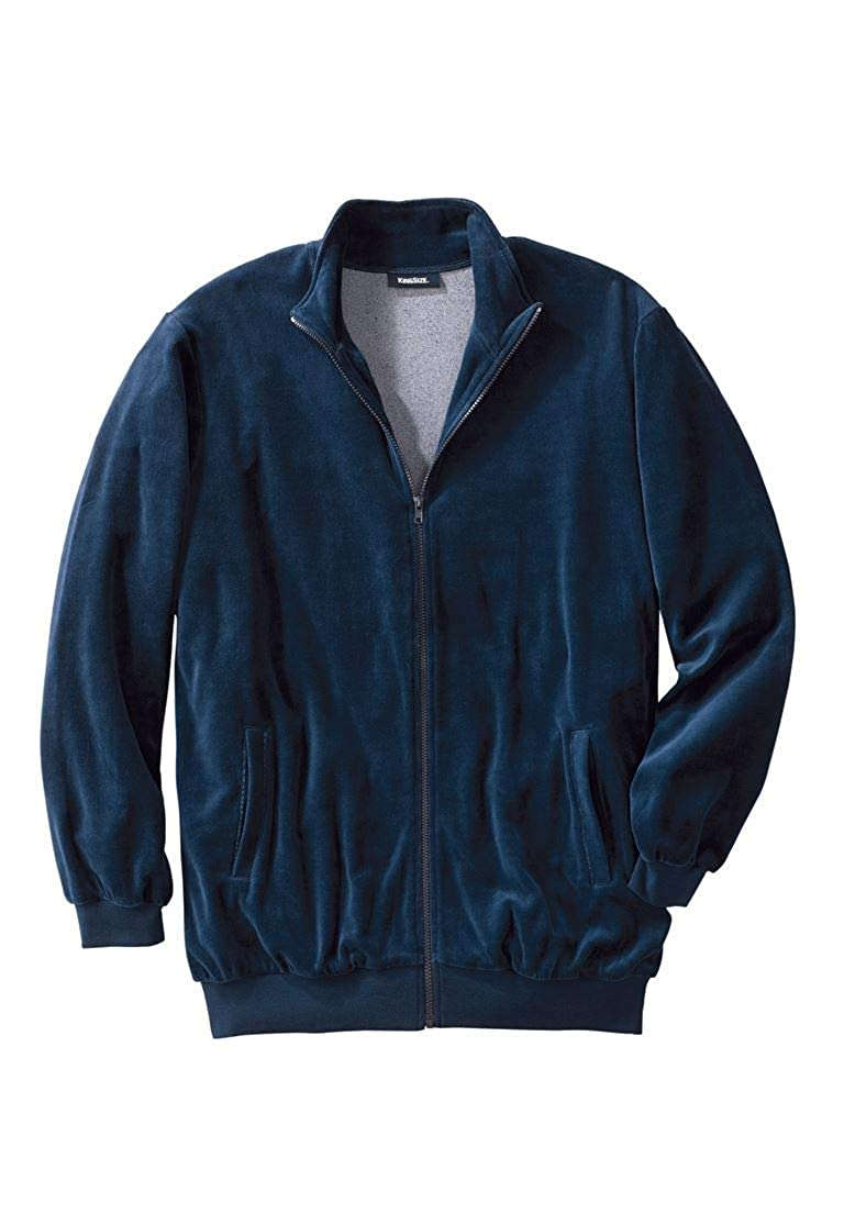 KingSize Men's Big & Tall Velour Full-Zip Jacket