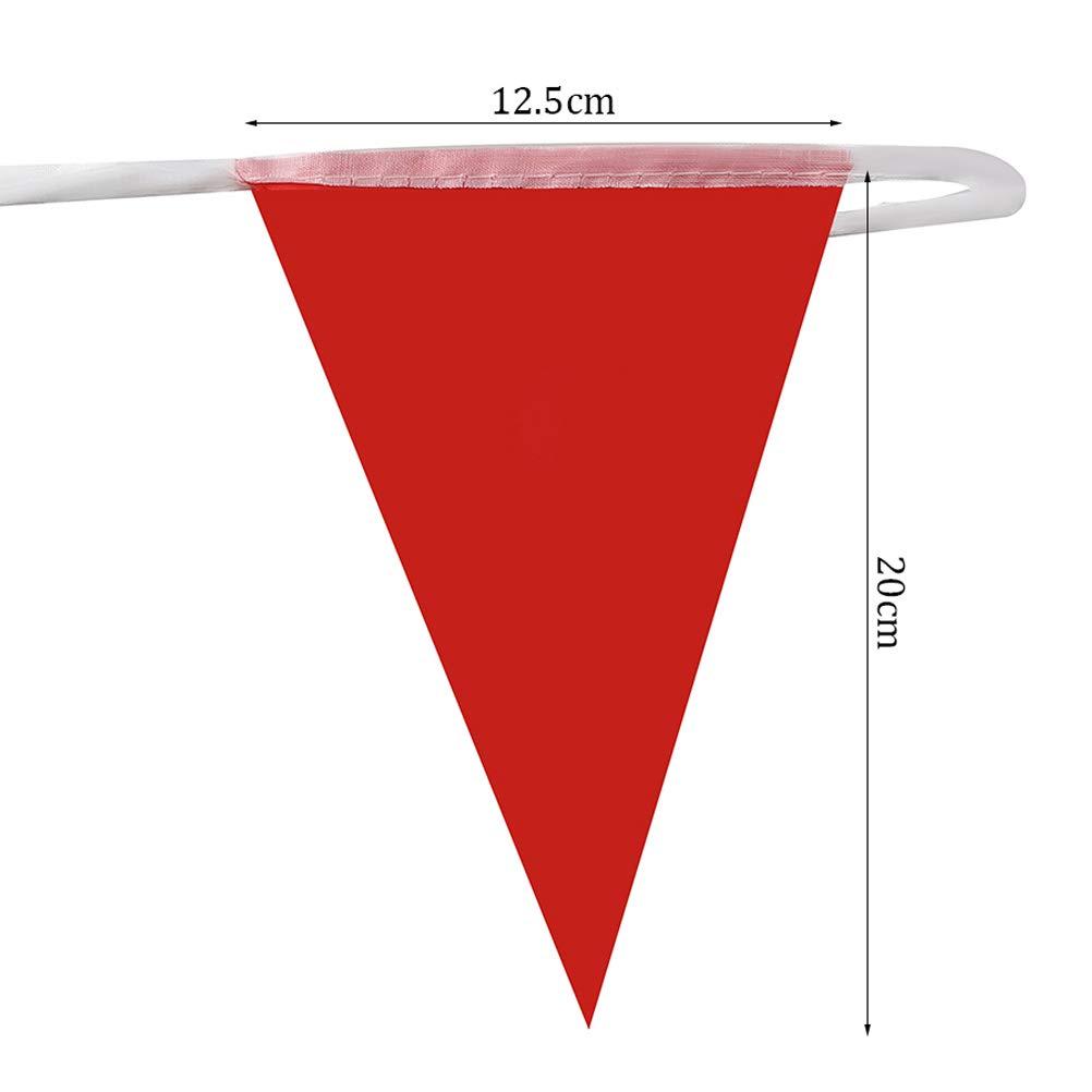 Yuanzi Multicolore Fanions 120 Drapeaux Nylon Bruant Banderole Triangle Cha/îne de Banni/ère pour Party Maison Jardin D/écoration