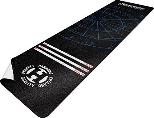 Sports rouage Harrows - NYLON FIBRE fléchettes Tapis - Noir - 300 x 65CMS TOUT NOUVEAU Only Sportsgear