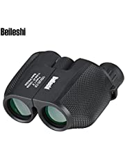 Beileshi Binocular Telescope 10x25 Compact High Powered Outdoor Sports Binocular Telescope Pocket Scope for Birdwatching Concert Travel 114M - 1000M