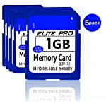 Estone 5pcs 1GB SD Cards Security Digital Memory Card with High Speed Compatible with Cameras Camcorders Computers Card… 2 5pcs x 1GB SD card. These sd cards compatible with all SD devices. Easy to use, plug-and-play operation.