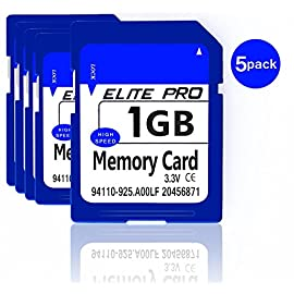 Estone 5pcs 1GB SD Cards Security Digital Memory Card with High Speed Compatible with Cameras Camcorders Computers Card… 4 5pcs x 1GB SD card. These sd cards compatible with all SD devices. Easy to use, plug-and-play operation.
