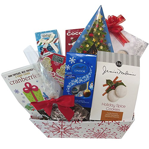 Great Gifts Baskets Winter Wonderland: Snowflakes, Holiday Spice Cookies, Lindt Truffles, More