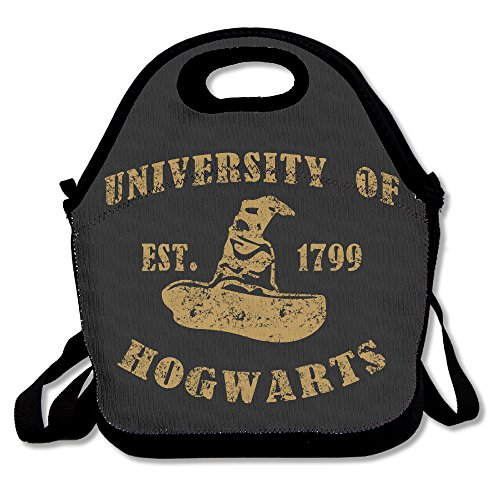 - Copdsa Harry Potter School Of Witchcraft Insulated Personalized Tote Lunch Food Bag Black