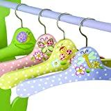 Teamson Design Corp Fantasy Fields - Magic Garden Thematic Kids Hangers Set (4 Pieces) | Imagination Inspiring Hand Painted Details Non-Toxic, Lead Free Water-based Paint