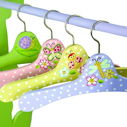 Fantasy Fields – Magic Garden Thematic Kids Hangers Set (4 Pieces) | Imagination Inspiring Hand Painted Details | Non-Toxic, Lead Free Water-based Paint