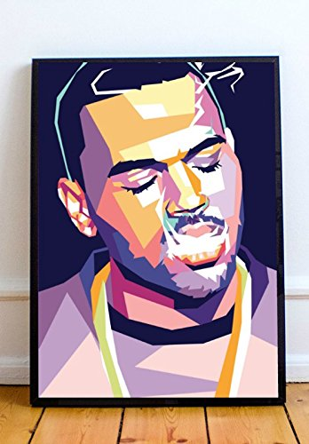 AAP Chris Brown Limited Poster Artwork - Professional Wall Art Merchandise (More Sizes Available) (11x14) (Chris Brown Best Photos)