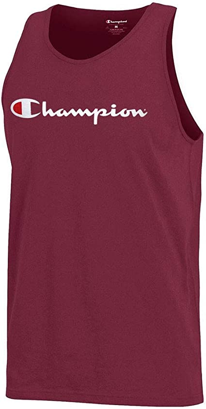 Garnet Sleeveless  Tank Top Champion Script Logo Men/'s