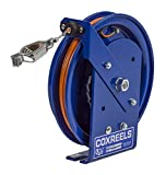 Coxreels SD-75-1 Spring Rewind Static Discharge Cable Reel: 75' stainless steel cable