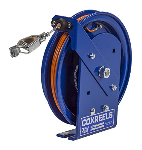 Coxreels SD-50-1 Spring Rewind Static Discharge Cable Reel: 50' stainless steel cable (Reels Static Discharge)