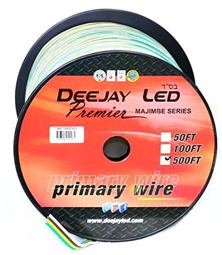 DEEJAY LED TBH164B500 16Ga 500'Y/B/G/W Primary Wire by Deejay LED