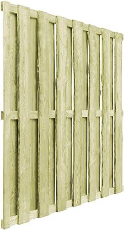 Festnight Puerta de Jardín Panel de Valla de Madera de Pino Verde Impregnada 180 x 180 cm: Amazon.es: Hogar