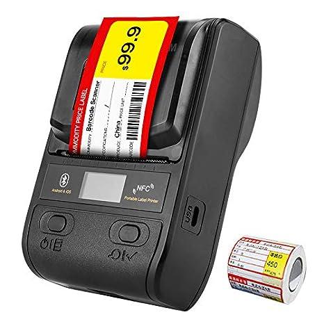CICIN Impresora térmica de Etiquetas Bluetooth, Impresora ...