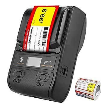 CICIN Impresora térmica de Etiquetas Bluetooth, Impresora portátil ...