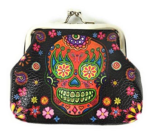 Skulls coin purse