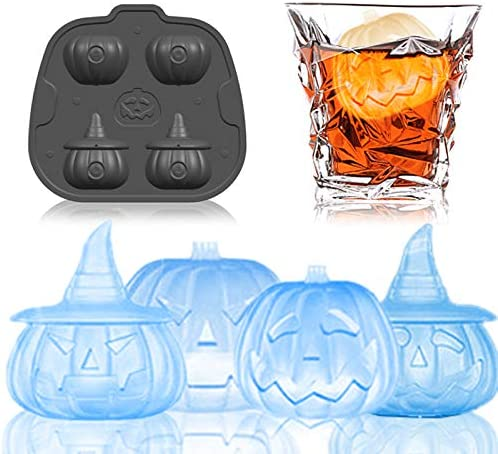 Set of 1 Halloween Silicone Ice Cube Trays by Arctic Chill Blue FDA-Approved Ice Trays Perfect Large Whiskey Ice Cubes Dishwasher and Microwave Safe BPA-Free