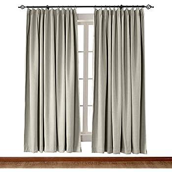 Amazon Com Chadmade Heavyweight Luxury Faux Linen Curtain