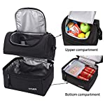 MIER-Adult-Lunch-Box-Insulated-Lunch-Bag-Large-Cooler-Tote-Bag-for-Men-Women-Double-Deck-CoolerBlack