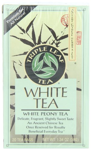 Triple Leaf Tea, White Peony, 20 Tea Bags (Pack of 6) (Herbal Tea Peony)