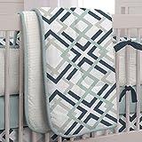 Carousel Designs Navy and Gray Geometric Crib Comforter